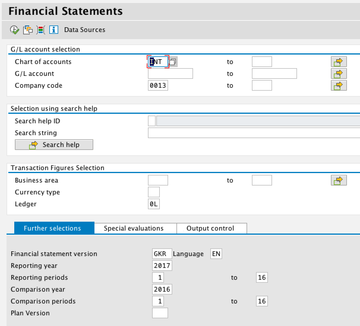 Financial Statement Selection Criteria