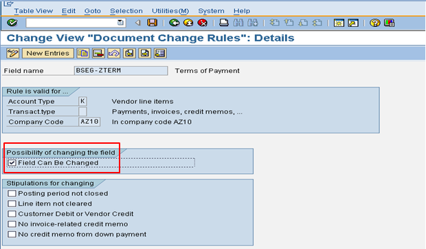 Define Document Change Rules