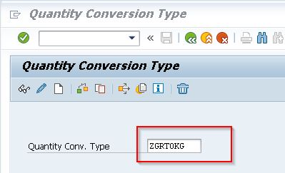 Giving Quantity Conversion Type Name