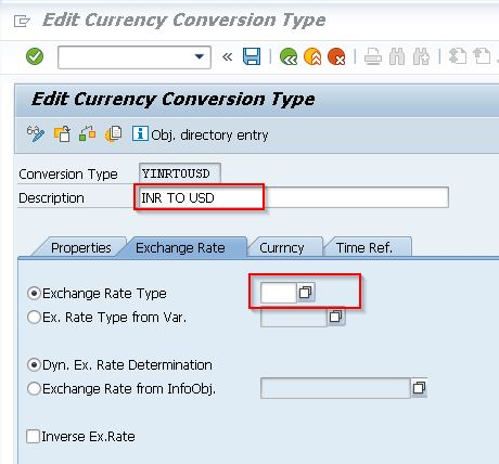 Giving Description and Selecting Exchange Rate Type