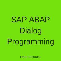 SAP ABAP Dialog Programming
