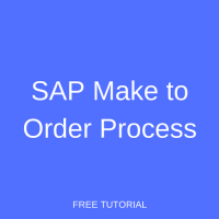 SAP Make to Order Process