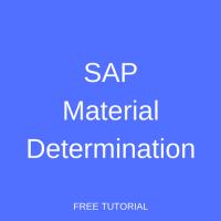 SAP Material Determination