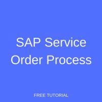SAP Service Order Process