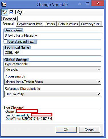 SAP BW Hierarchy Variable Properties (2)