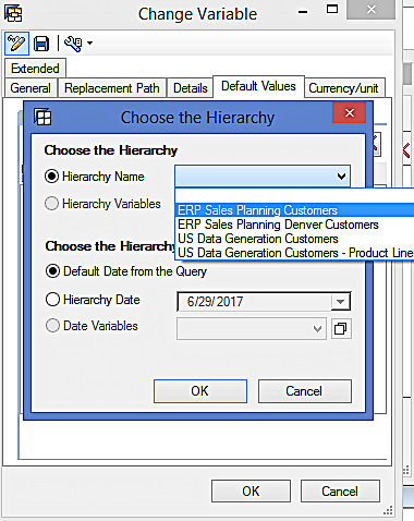 Choosing the Default Hierarchy for Hierarchy Variable (4)