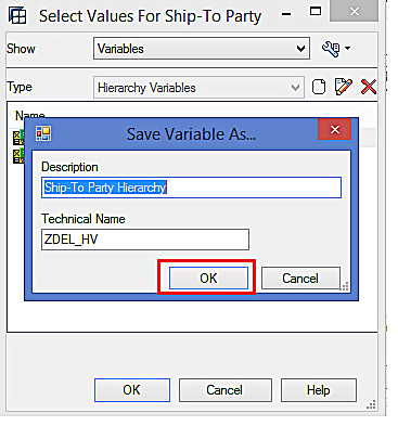 Saving the Hierarchy Variable (1)