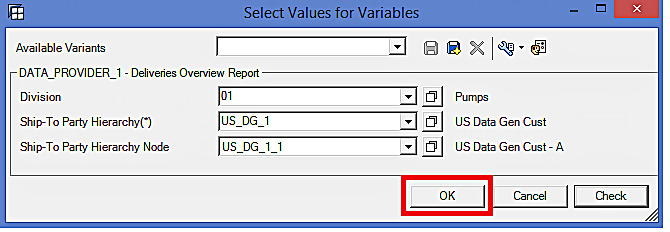 Select Values for Variables in BEx Analyzer (3)
