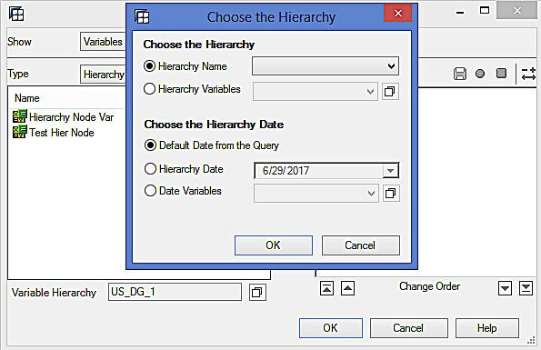 Choosing the Hierarchy (1)