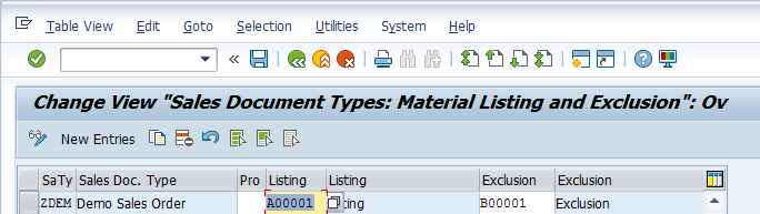 Assign Listing to Sales Document Types