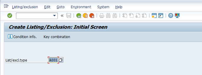 Create Listing Initial Screen