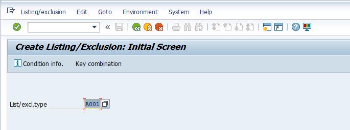 Create Listing Initial Screen