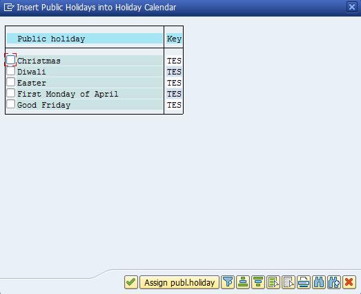Figure 25: Filtered List of Holidays