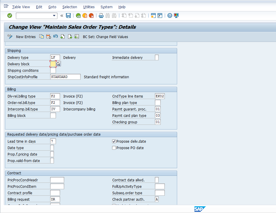 Sap Delivery Note Table