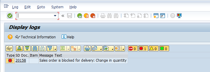 Delivery Block Message