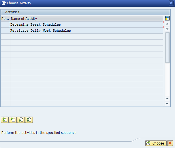 Figure 6: SAP Break Schedules Activity List