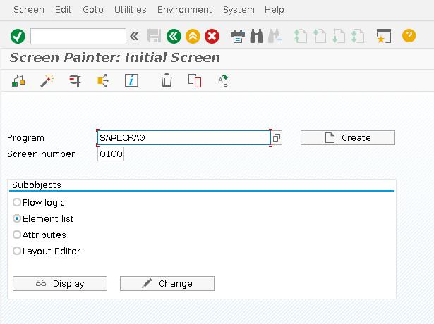 SAP Screen Painter Transaction