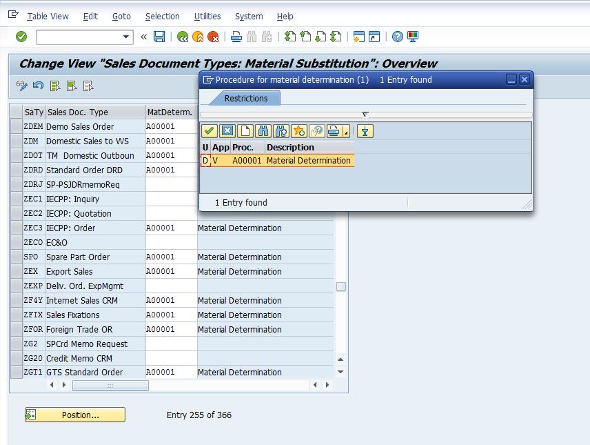 Assign Procedure to Sales Document Types