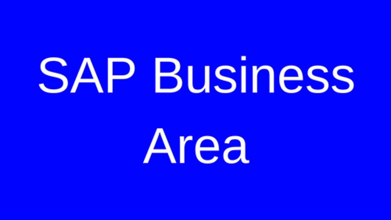 SAP Business Area Tutorial - Free SAP CO Training