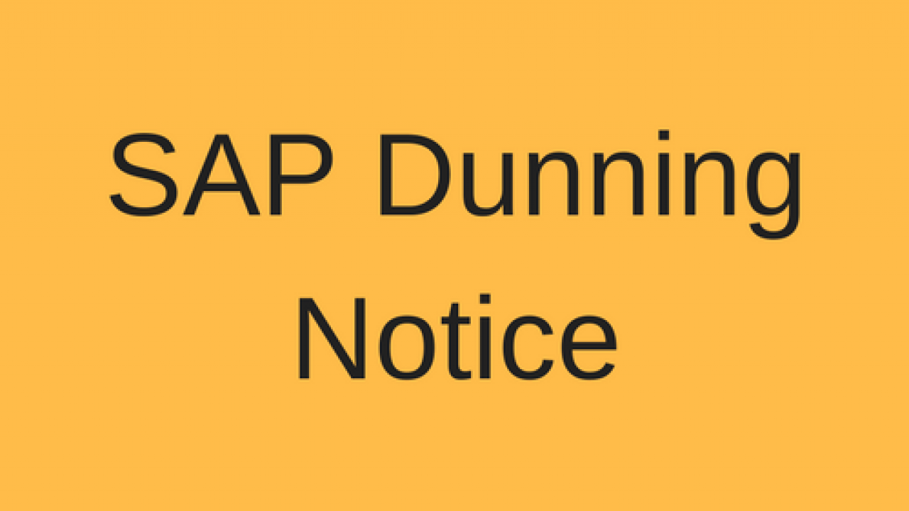 SAP Dunning Notice Tutorial - Free SAP FI Training
