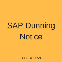 SAP Dunning Notice