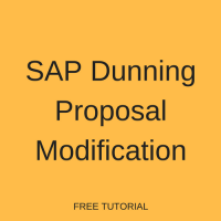 SAP Dunning Proposal Modification