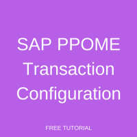 SAP PPOME Transaction Configuration