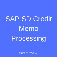 SAP SD Credit Memo Processing