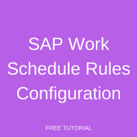 SAP Work Schedule Rules Configuration