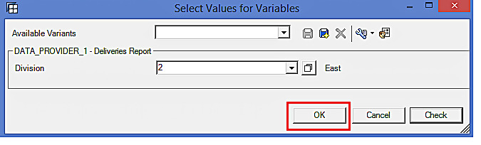 Select Values for Variables in BEx Analyzer (2)