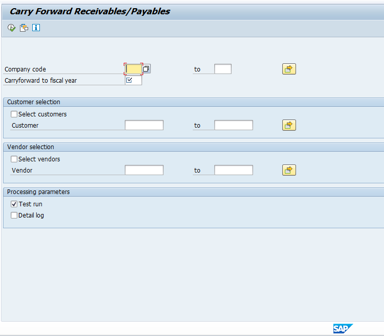 SAP Year End Closing Carryforward of Receivables / Payables