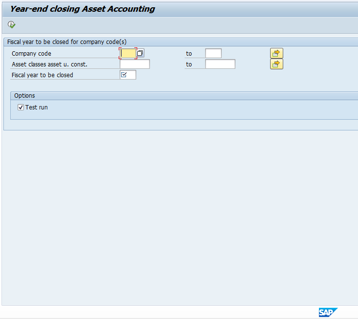 SAP Year End Closing in Asset Accounting