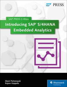 Introducing SAP S 4HANA Embedded Analytics
