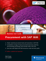 Procurement with SAP MM Business User Guide