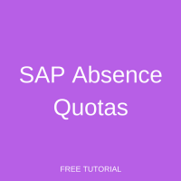 SAP Absence Quotas