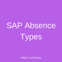 SAP Absence Types Configuration
