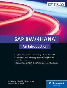 SAP BW 4HANA: An Introduction
