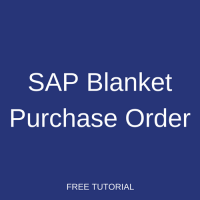 SAP Blanket Purchase Order