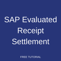 SAP Evaluated Receipt Settlement