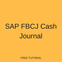 SAP FBCJ Cash Journal