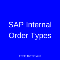 SAP Internal Order Types