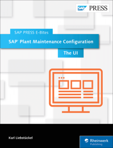 SAP Plant Maintenance Configuration The UI
