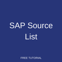 SAP Source List