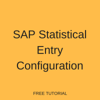 SAP Statistical Entry Configuration