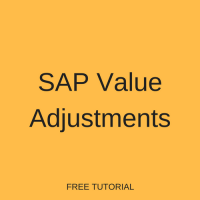 SAP Value Adjustments