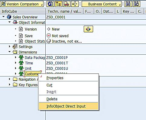 Adding InfoObjects to Dimension of InfoCube (1)