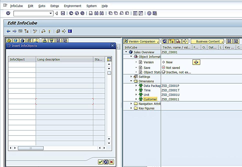 Adding InfoObjects to Dimension of InfoCube (2)