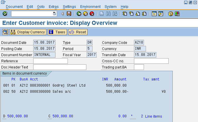Customer Invoice Overview