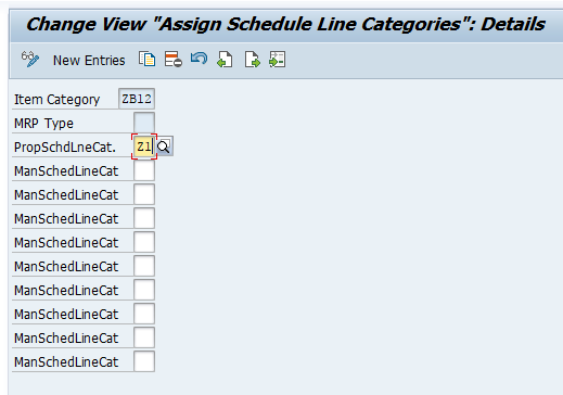 Notice the MRP Type is Blank for the New Assignment