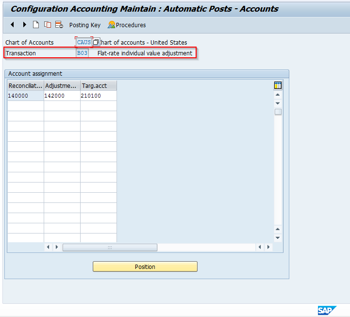 Automatic Accounts for Flat-Rate Value Adjustments